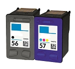 Compatible HP 56 and HP 57 Ink Cartridge - 2 Pack