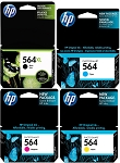 Genuine HP 564XL 564 Ink Cartridge - 4 Pack