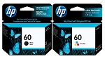 Genuine HP 60 Black and Color Ink Cartridge 2-Pack