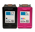 Compatible HP 60XL Color and Black Ink Cartridge - 2 Pack