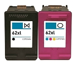 Compatible HP 62XL Black and Color Ink Cartridge - 2 Pack