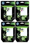 Genuine HP 88XL Ink Cartridge - 4 Pack