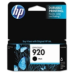 Genuine HP 920 Black Ink Cartridge