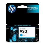 Genuine HP 920 Cyan Ink Cartridge