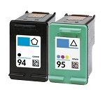 Compatible HP 94 and HP 95 Ink Cartridge - 2 Pack