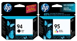 Genuine HP 94 and HP 95 Ink Cartridge - 2 Pack