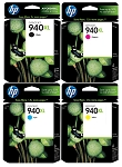 Genuine HP 940XL Ink Cartridge - 4 Pack