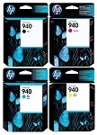 Genuine HP 940 Ink Cartridge - 4 Pack