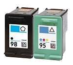 Compatible HP 98 and HP 95 Ink Cartridge - 2 Pack
