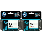 Genuine HP 65 Black and Color Ink Cartridge - 2 Pack
