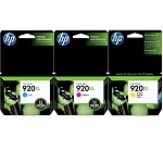 Genuine HP 920XL Color Ink Cartridge - 3 Pack