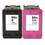 Compatible HP 64XL Black and Color Ink Cartridge - 2 Pack