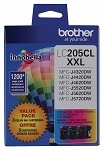 Genuine Brother LC-205 XXL - 3 Pack