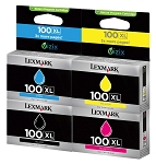 Genuine Lexmark 100XL Ink Cartridge - 4 Pack