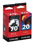 Genuine Lexmark 70/20 Ink Cartridge - 2 Pack