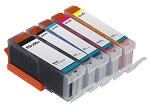 Compatible Canon PGI-250XL CLI-251XL Ink Cartridge - 5 pack