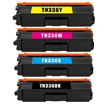 Compatible Brother TN-331 TN-336 Toner Cartridge - 4 Pack