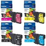 4 Pack of Genuine Brother LC-61 Ink Cartridge