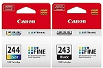 Genuine Canon PG-243 and CL-244 Ink Cartridge - 2 Pack