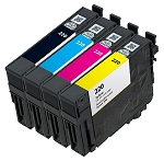 4 Pack Remanufactured Epson 220 Ink Cartridge