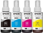 Genuine Epson 664 Ink Bottle - 4 Pack